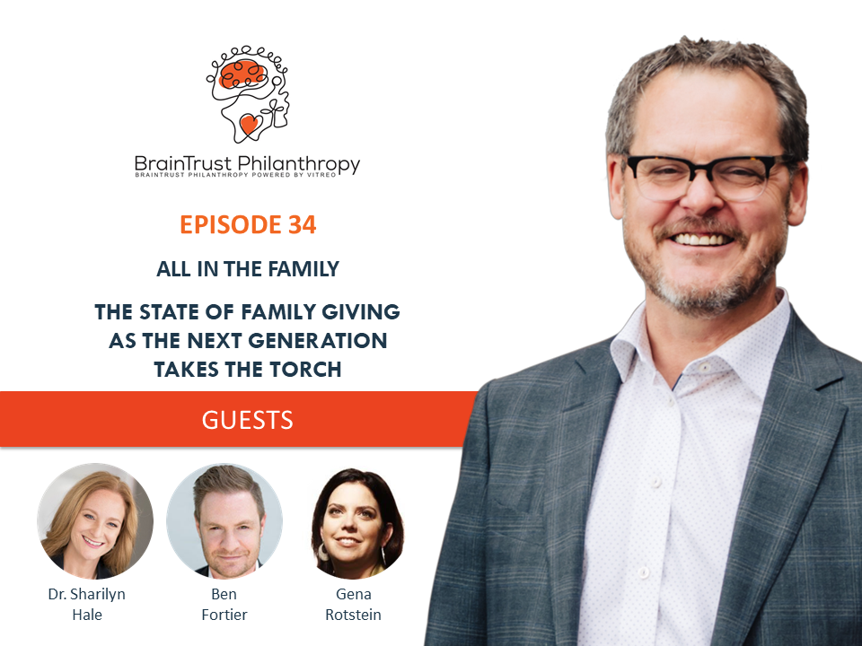 Braintrust Philanthropy logo page with Podcast panel